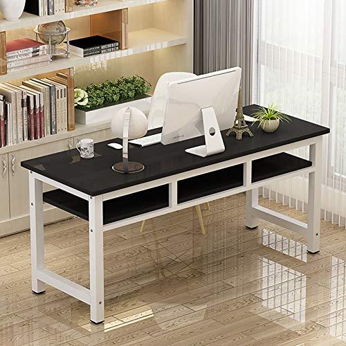 XFXDBT 2 Capa Escritorio De Computadora con Almacenamiento,Moderno Casa Oficina Desk Resistente Y Resistente Estudio Tabla De Escritura para Juego Trabajo-Yo 120x60x75cm/47x24x30inch