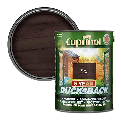 Cuprinol Ducksback 5 Year Waterproof for Sheds and Fences, 5 L - Forest Oak