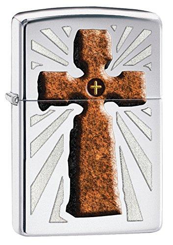 Zippo Pocket Lighter High Polished Chrome Double Cross Lighter -  Zippo Manufacturing Company, 28801