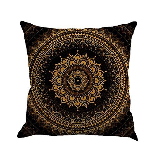 HLHN Indische Mandala Kissenbezüge Rechteck Bohemian Home Sofa/Café/Bibliothek/Buchladen/Partei/Verein Kissen Cover, Größe: 45 x45cm (N)