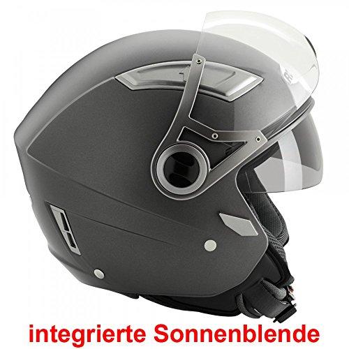 Büse Jet Helm ROCC 120 matt schwarz, Größen:M - 57/58