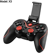 Bonega X3 Wireless BT Game Controller Joystick Gamepad with Phone Holder for Android iOS Smartphone Tablet PC TV Box Windows (Renewed)