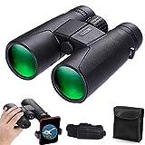 Binoculars for Adults, 10x42 Binoculars High Power HD Portable Waterproof Binoculars for Bird Watching Hunting Football Outdoor Sports Camping Concerts - BAK4 Prism FMC Lens(1.22lb)