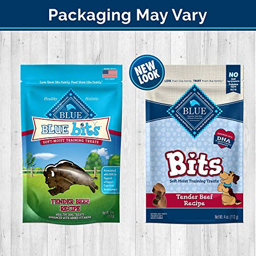 Blue Buffalo BLUE Bits Natural Soft-Moist Training Dog Treats, Beef Recipe 4-oz bag