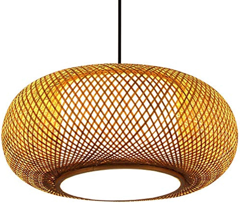 HOIHO Vintage LED Kronleuchter, Postmoderne Bambus Pendelleuchten Kreative Laterne Hngen Lichter Europischen Land Restaurant Wohnzimmer Schlafzimmer Dekoration Kronleuchter (Größe   40CM)