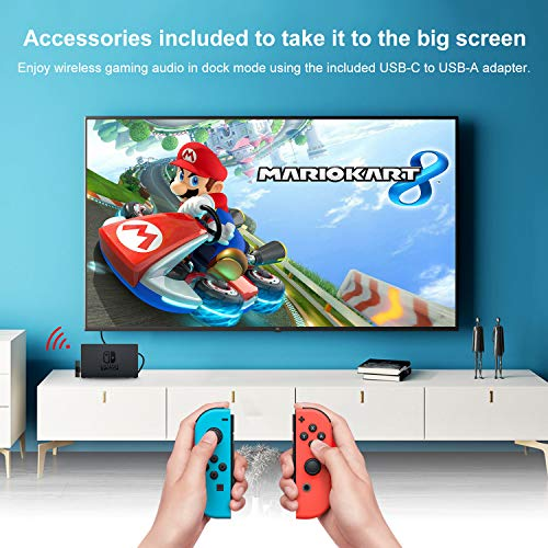 GULIkit Route Air Wireless Bluetooth Audio Adapter for The Nintendo Switch,Switch Lite - Black