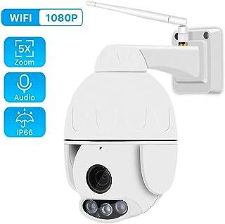 FTSUI 1080P PTZ Mini WiFi Cámara IP para Exteriores 5X Zoom Inalámbrico HD 2MP CCTV Onvif IP66 Detección de Movimiento de máquina de Bolas a Prueba de AguaAU