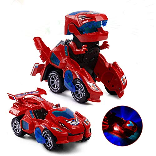 Dinosaur Transforming Car Electric Dinosaur Toys Automatic Transforming...