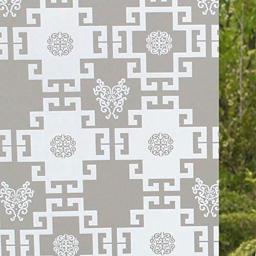 60x200cm Zelfklevende folie voor badkamer raam glazen schuifdeuren cellofaan toilet doorschijnend raam glas zelfklevend papier, Wit klassiek