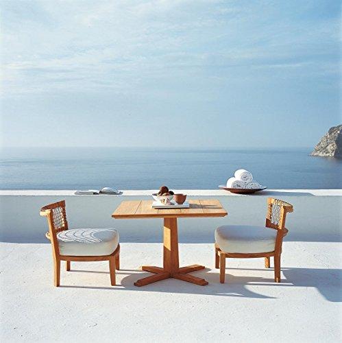 dafnedesign. com – Table de jardin en teck Table lounge synthesis carré h cm 62