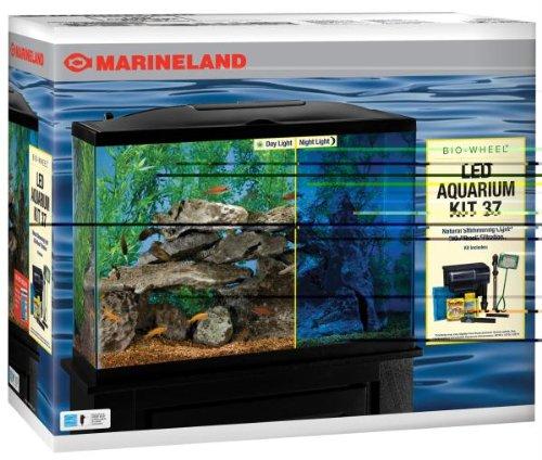Marineland Biowheel Aquarium Kit with LED Light, 37-Gallon