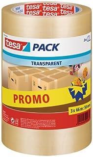 Tesa 57008-00000-01 Lot de 3 Rubans Adhésif d'Emballage 66 m x 50 mm Transparent