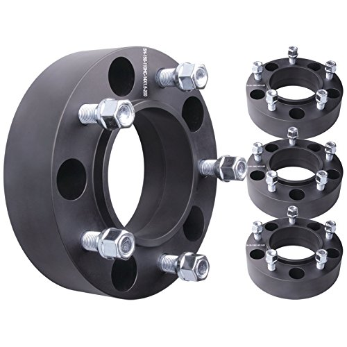 """GDSMOTU 5x150 Hubcentric Wheel Spacers 2"""" / 4pc with M14x1.5 Studs + 110mm Hub Bore for Toyota Land Cruiser Sequoia Tundra Wheel Spacers/Lexus LX 470 LX 570 Wheel Spacers"""