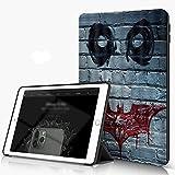 She Charm Étui Compatible avec iPad 9.7 2018/2017,Visage de Clown d'horreur décoratif sur Le Mur...