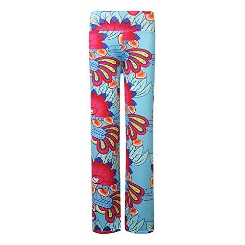 Bluelover India Estilo Impreso Fitness Yoga Pantalones