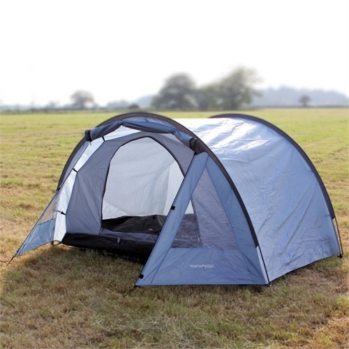 North Gear Camping Exodus Waterproof 4 Man Tunnel Tent blue