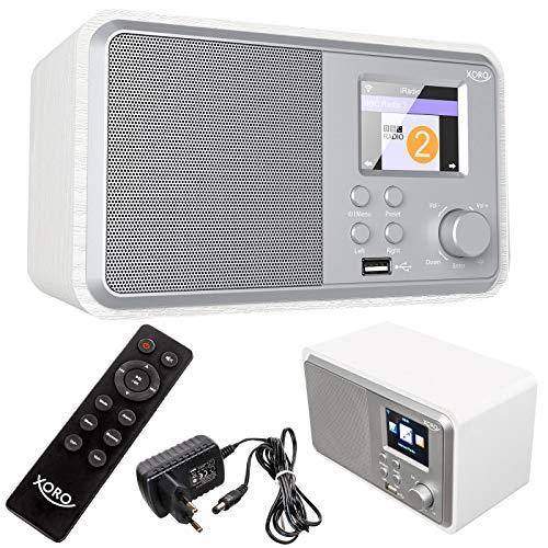 netshop 25 Xoro HMT 300 Internetradio Wi-Fi WLAN Verbindung, Bluetooth Musikwiedergabe, Digital-Radio Wecker, Fernbedienung, USB Laden MP3 UPnP Stream Kopfhörer-Out Web Wetter