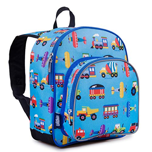 Wildkin Backpack for Toddlers, Boys and Girls Ideal for Daycare, Preschool and Kindergarten, Perfect Size for School and Travel, Mom's Choice Award Winner, One, Trains, Planes, and Trucks