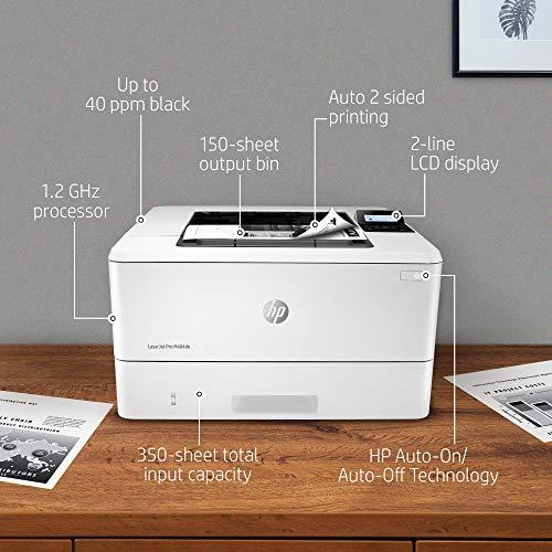 HP LaserJet Pro M404dn - Impresora láser monocromo, USB 2.0, Ethernet (W1A53A)