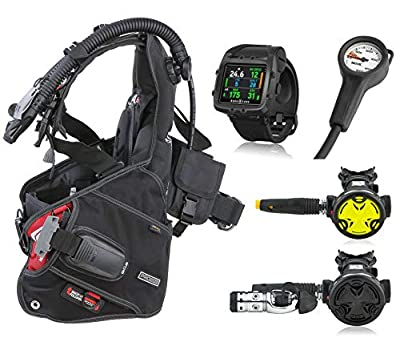 SEAC Pro 2000 BCD, Synchro Regulator Octopus and Aqua Lung i750 Dive Computer, Scuba Gear Package, X-Large
