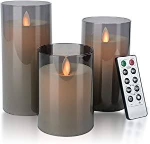 Flameless Candles Flickering Battery Operated Candles Pack of 3(D: 3