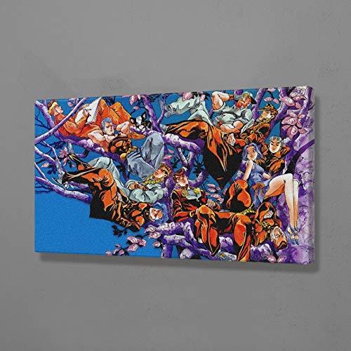 AMtxkj La extraña Aventura de Jojo 90x50cm Frameless,Impresión de Lienzo Pintura de Pared Impresiones sobre Lienzo imágenes de al óleo para decoración Moderna para el hogar