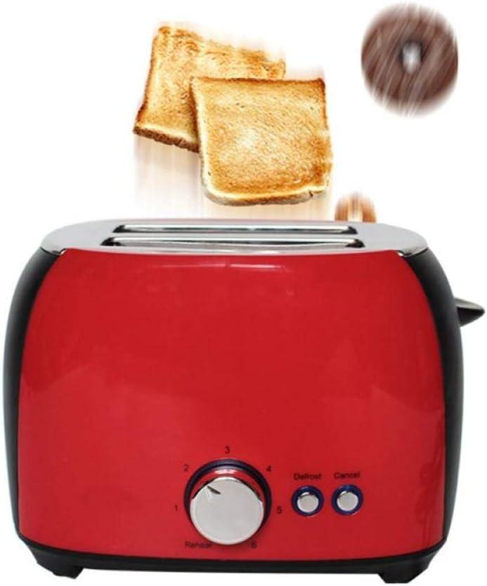 XTBB broodrooster, 2 schijven, roestvrij staal, 7 brood, schaduw-instellingen, broodrooster met uitneembare kruimelschaal voor bagels wafel roze