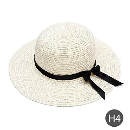 TIANFGW Sombrero para el Sol Bordado Personalizado Texto Personalizado Su Nombre Niño Sombrero de Sol Sombrero de Paja de ala Grande Sombrero de Playa al Aire Libre Gorra de Verano Regalo de Unos 53