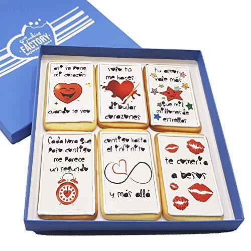 COOKIES FACTORY Regalo original para enamorados, caja de galletas deco