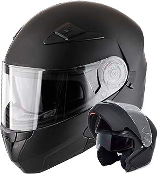 Klapphelm Integralhelm Helm Motorradhelm Rallox 910 Schwarz Matt Mit Sonnenblende Xs S M L Xl Größe L Auto