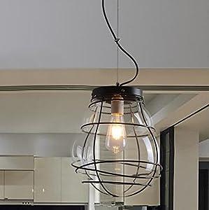SDKKYAmerican vintage candelabro de cristal de Murano Restaurant Loft eólica industrial corredor Candelabro Villa bar y cafetería, lámparas de 280 * 320 mm