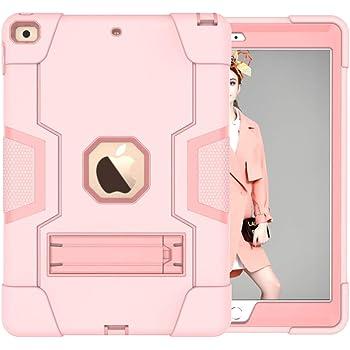 GoYi Funda iPad 10.2 (iPad 7/8, 7ª/8ª Generación, 2019/2020 Modelo), Carcasa Case Estuche Protección/Silicona + PC 3-In-1/Tough Armor/Soporte para iPad 10.2 2019/2020-Oro Rosa