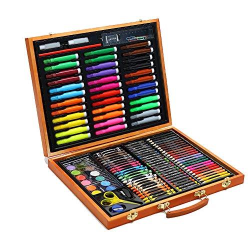 NgMik Stylos pinceaux Aquarelle 150 pcs Portable Dessin Ensemble Set Stylo Aquarelle Peinture kit d'apprentissage Papeterie pour Enfants Adultes et Enfants Coloriant Calligraphie et Dessi