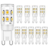 Bombilla LED G9 2W Equivalente a 15W 20W 25W Bombillas halógenas, Blanco cálido 3000K, lámpara LED con enchufe G9, no...
