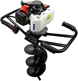 XtremepowerUS 3HP Post Hole Digger EPA Machine Planting Gas 63CC 2-Stroke Motor Digging Plant Fence (Digger + 12