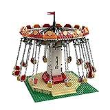 1040 PCS Bloque De Construcción Parque De Atracciones Silla Voladora Giratoria Eléctrica, Rompecabezas Técnica Técnica Super Racing RC Kit De Coche, Modelo Bloques De Construcción Compatible Con LEGO