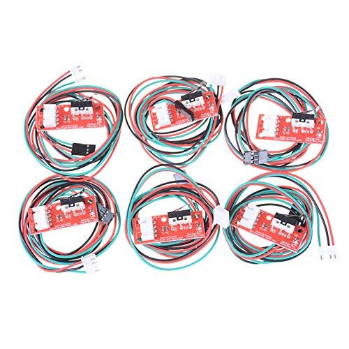 YSJJUSZ Cambiar 6 PCS/Conjuntos Cables de Interruptor de Parada Final Cables Límite de Extremo Mecánico para la Impresora CNC Ramps de impresión endstop Límite Interruptor de límite Límite