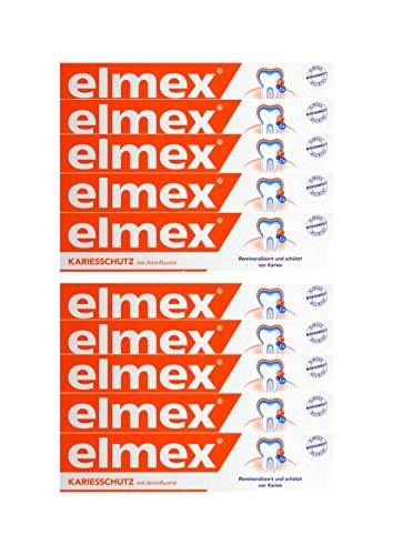 10x ELMEX KARIESSCHUTZ mit Aminfluorid Zahnpasta 75ml schützt vor Karies