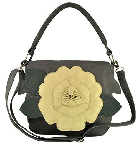 Acosta Jewellery - Bolso al hombro de sintético para mujer gris gris talla única