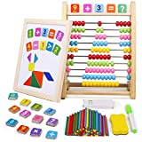 jerryvon Abaco Montessori Pizarra Magnetica Infantil con Puzzle Magnetico Abacus...