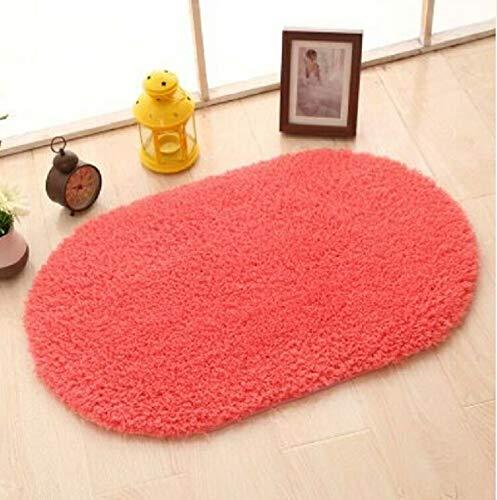 Künstliches Pelz Teppich Anti-Rutsch Bad Teppich Kinderzimmer Pad Eierstock Schlafzimmer Wohnzimmer Teppich, Größe: 32 × 47,2 Zoll PP (Color : Rose Red)
