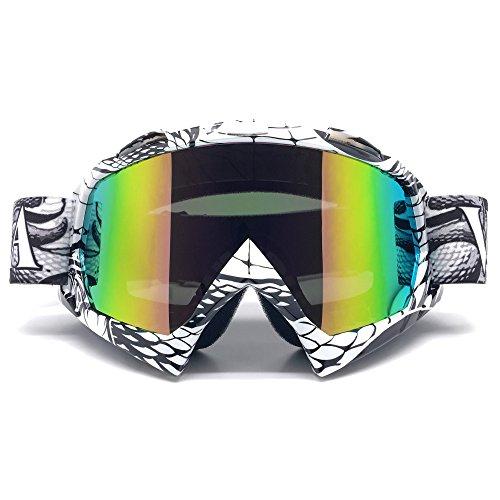ZDATT Motocross Goggles, ATV Goggles Adult Dirt Bike MX Goggle Glasses and Anti Fog Motorcycle Goggles