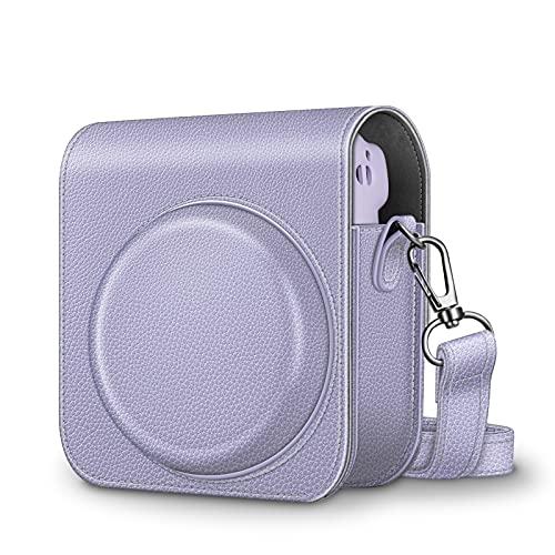 Fintie Case Tas voor Fujifilm Instax Mini 11 Camera – Premium Kunstleer Cameratassen Cover met Afneembare Regenboog…