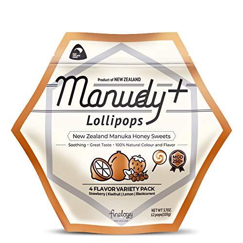 Manudy+ New Factory outlet New life Zealand Manuka Honey MGO250+ Lollipops Natura Sweets