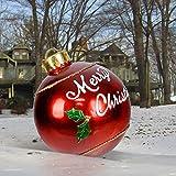 Bola inflable decorada de Navidad al aire libre, Bola decorada inflable de PVC, Bola inflable gigante de Navidad de 23.6 pulgadas Decoraciones para árboles de Navidad de jardín
