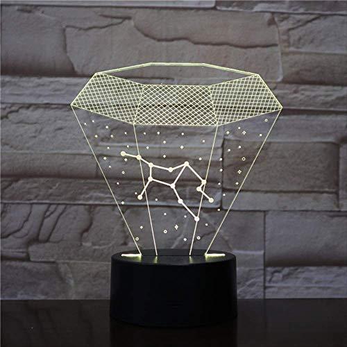 Preisvergleich Produktbild zhkn Kreative Nachtlicht Bluetooth Lautsprecher Basis Konstellation Bild 3D Led 7 Farben USB Nachtlicht Berühren Steuerung Tischlampe Atmosphäre Lampe
