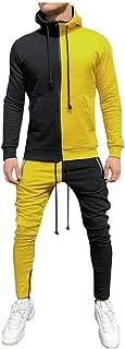 Men's Sweater Set Sweatshirt Contrast Trend Pocket Long Sleeve Stitching Zip Top Sweater Pants Set