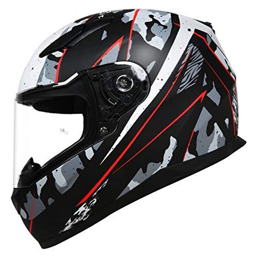 qwert Casco Integrale da Motociclista Casco da Scooter Modulare Leggero Omologato DOT/ECE Casco da Scooter con Visiere Caschi da Motocross per Giovani Uomini Donne