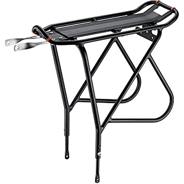 Ibera Bike Rack – Bicycle Touring Carrier with Fender Board, Frame-Mounted for Heavier Top & Side Loads, Height Adjustable for 26 -29  Frames