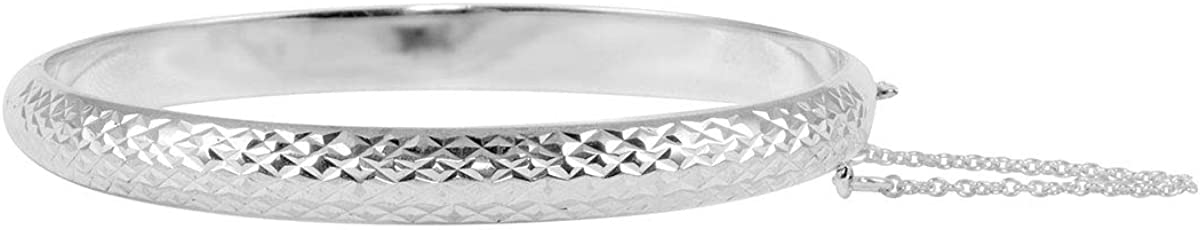 Shop LC 925 Sterling Silver Diamond Cuff for shopping Cut Bracelet Bangle Spring new work one after another